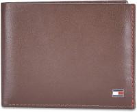 TOMMY HILFIGER Men Red Genuine Leather Wallet(10 Card Slots)