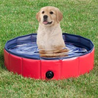 Hunk shopper's Foldable Dog Pool Hard Plastic Collapsible Pet Bath Tub for Puppy Small Dogs Cats and Kids Dog, Cat, Monkey House