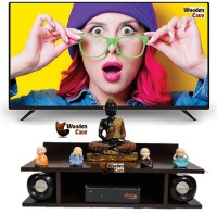 woodify setup box stand for home wall wooden for 32inch led tv Engineered Wood TV Entertainment Unit(Finish Color - brown, DIY(Do-It-Yourself))