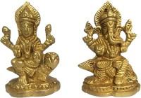 UAPAN Brass Laxmi Ganesh Idol for Home Puja | Laxmi Ganesha Statue | for Home Décor, Diwali Gifting(Weight 400 GM) Decorative Showpiece  -  8 cm(Brass, Gold)