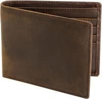 Leder Street Men Trendy, Casual Brown Genuine Leather Wallet(10 Card Slots)