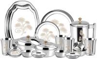 Sagar Pack of 57 Stainless Steel 57 Piece Stainless Steel Dinner Set Dinner Set