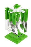 unlock SWATIK SCutlery Set for Dining Table with Stand 24 PCs Stainless Steel Cutlery Set (Green) Stainless Steel Coffee Spoon, Ice-cream Spoon, Table Spoon, Tea Spoon, Soup Spoon(Pack of 1)