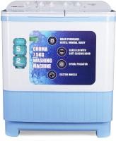 Croma 7.5 kg Semi Automatic Top Load White, Blue(CRAW2223)