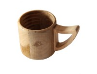 ISHNAA Pack of 1 Wooden Teakwood Tea and Coffee Cups or Mugs for Home, Kitchen, Office and Other Multiple uses for Health Conscious People(Brown)
