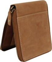 ree cope Boys Casual, Trendy, Travel Tan Genuine Leather Wallet(6 Card Slots)