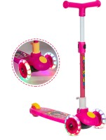 Miss & Chief Adjustable Height LED light scooter foldable with PU Wheelsand Brakes(Pink)