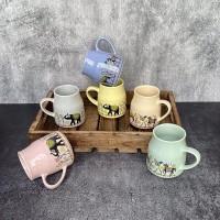 purezento Pack of 6 Ceramic Ceramic Tea Cups - 6 Pieces, Multicolour, 170ml Coffee Mugs Set of 6 Perfect for Coffee, Cappuccino, Tea(Multicolor)