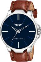 LOIS CARON LCS-4232 BLUE DIAL & BROWN STRAP WATCH FOR BOYS Analog Watch  - For Men