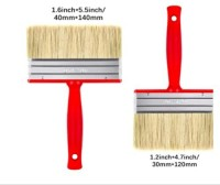 DARIT Pack of 3 All Purpose Essentials Block Brush, Fence Paint Brush Wide Decking Brush, Large Shed Paint Brush Timber and Other Woodwork (30 X 120, 40 X 140,)(Set of 6, Red)