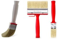 DARIT Pack of 2 All Purpose Essentials Block Brush, Fence Paint Brush Wide Decking Brush, Large Shed Paint Brush Timber and Other Woodwork (30 X 120, 40 X 140, 2)(Set of 2, Red)