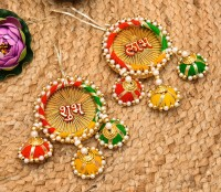 PRIDE STORE Shubh LabhDoor Hangings for Home Decoration/Diwali Decoration Door Hanging Set, Hanging Toran, Door Bandarwal, Shubh Labh Bandanwar, Hanging Stickers Hook , Door Hanging Wall Hanging for Home Office Puja Pooja Article Mandir Temple Diwali Decoration Items Diwali Decoration Toran Stickers