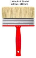 DARIT Pack of 3 All Purpose Essentials Block Brush, Fence Paint Brush Wide Decking Brush, Large Shed Paint Brush Timber and Other Woodwork (40 X 140,)(Set of 3, Red)
