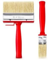 DARIT All Purpose Essentials Block Brush, Fence Paint Brush Wide Decking Brush, Large Shed Paint Brush Timber and Other Woodwork (30 X 120, 40 X 140, ) Pack of 1(Set of 2, Red)