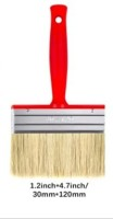 DARIT Pack of 3 All Purpose Essentials Block Brush, Fence Paint Brush Wide Decking Brush, Large Shed Paint Brush Timber and Other Woodwork (30 X 120,)(Set of 3, Red)