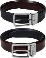 TOMMY HILFIGER Men Blue, Maroon Genuine Leather Reversible Belt