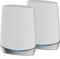 NETGEAR Orbi Tri-Band AX4200 WiFi 6 System Router + 1 Satellite extender-RBK752-100EUS 4200 Mbps Mesh Router(White, Tri Band)