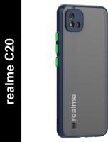 Lilliput Back Cover for Realme C20(Blue)