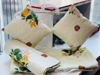 MAYAS COLLECTION 210 TC Cotton Double Floral Bedsheet(Pack of 1, f1)