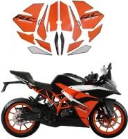 Voiture Sticker & Decal for Bike(Black, Orange)