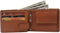 Leder Street Men Formal, Travel, Evening/Party Tan Genuine Leather Wallet(10 Card Slots)