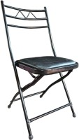 Nikota Enterprises Cushion Folding Chair Multipurpose Modern Design for Adults, Teens, Kids, Indoors and Outdoors Metal Outdoor Chair(Black, Pre-assembled)