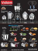 Vidiem Tusker premium 750 Juicer Mixer Grinder (5 Jars, Black)