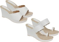 OSNIA Women White Heels