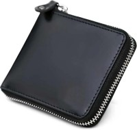 Leder Street Men & Women Formal, Travel, Trendy Black Genuine Leather Wallet(8 Card Slots)