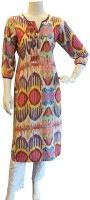 BeforeAfter Women Printed A-line Kurta(Multicolor)