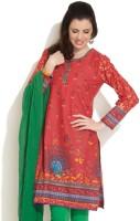 Biba Printed Women's Kurta(Red, Yellow)