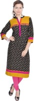 Shop Rajasthan Casual Houndstooth, Printed Women's Kurti(Multicolor)