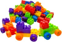 CATALYST Best Buy Building Blocks for Kids, Blocks for Kids, Puzzles Games 100+ Pcs Bricks Toys Sets with Wheel, Block Game, Educational Toys for Kids and Children Building Construction Toys Building Set.(Multicolor)