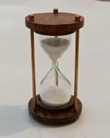 SOHRAB NAUTICALS 1 Minute Antique Wooden and Brass Sand Timer Hour Glass Sandglass Clock Decorative Showpiece  -  9.8 cm(Wood, Brown)