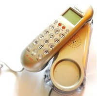 Siddh Present Orientel Jumbo Lcd Cid Back Light Kx-T666 Corded Landline Phone(Silver)