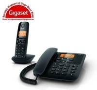 Gigaset A730 Cordless Landline Phone(Black)