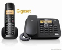 View Gigaset A590 Corded & Cordless Landline Phone(Black) Home Appliances Price Online(Gigaset)