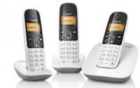 Gigaset A490 Trio Cordless Landline Phone(White)