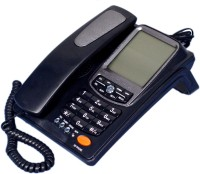 Talktel F-9 Bl Corded Landline Phone(Black)