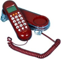 View Shopo Caller Id KX-T666 Telephone Corded Landline Phone(Red) Home Appliances Price Online(Shopo)