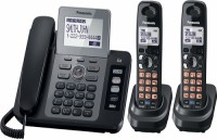 Panasonic PA-KX-TG9472 Corded & Cordless Landline Phone with Answering Machine(Black)