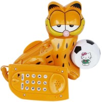 View Abee Cute Orange Cat Designer Corded Landline Phone(Multicolor) Home Appliances Price Online(Abee)