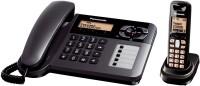 Panasonic KX TG 6458 Corded & Cordless Landline Phone(Black)