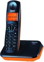 Gigaset A450 Cordless Landline Phone(Black & orange)