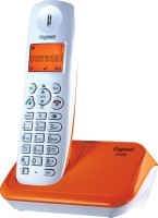 View Gigaset A450 Cordless Landline Phone(White & orange) Home Appliances Price Online(Gigaset)