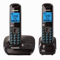 Panasonic PA-KXTG5522 Cordless Landline Phone with Answering Machine(Black)