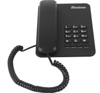 View Binatone Spirit 111 Corded Landline Phone(Black) Home Appliances Price Online(Binatone)
