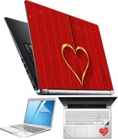 FineArts Heart H073 4 in 1 Laptop Skin Pack with Screen Guard, Key Protector and Palmrest Skin Combo Set(Multicolor)