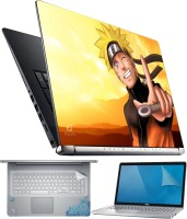 FineArts Naruto Finger 4 in 1 Laptop Skin Pack with Screen Guard, Key Protector and Palmrest Skin Combo Set(Multicolor)