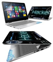 FineArts Hacker 4 in 1 Laptop Skin Pack with Screen Guard, Key Protector and Palmrest Skin Combo Set(Multicolor)